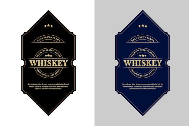 Étiquettes de luxe royal vintage et conception d'emballage.