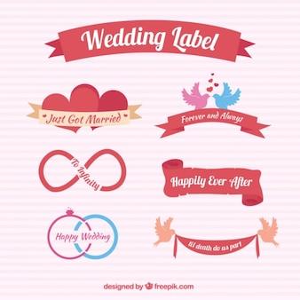 Étiquettes de mariage designs