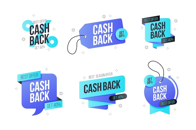 Étiquettes marketing cashback