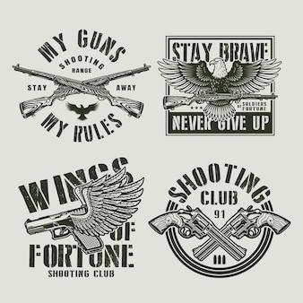 Étiquettes militaires vintage