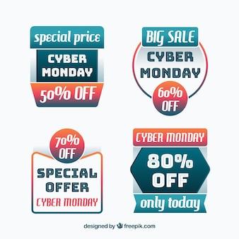 Étiquettes modernes cyber lundi
