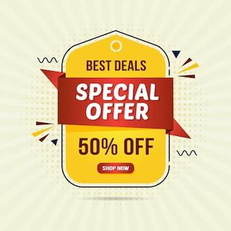 Étiquettes d'offres spéciales pour la promotion marketing avec style emblème ou badge