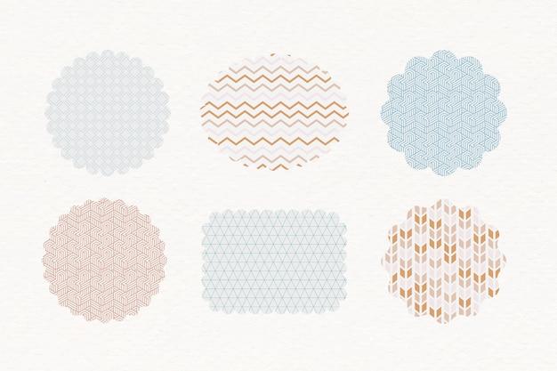 Étiquettes pastel à motifs