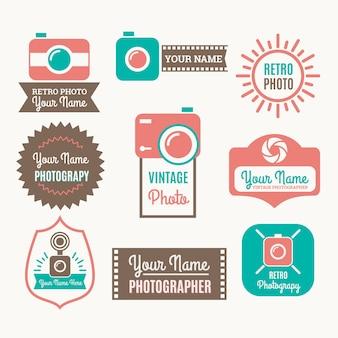 Étiquettes de photographie définies