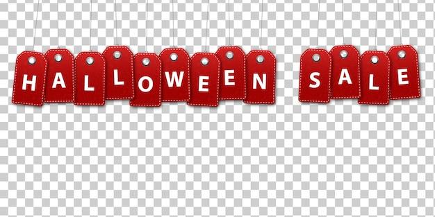 Étiquettes de prix isolés réalistes de la vente d'halloween