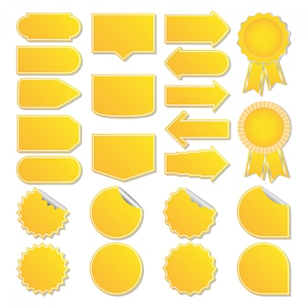 Étiquettes de prix jaunes
