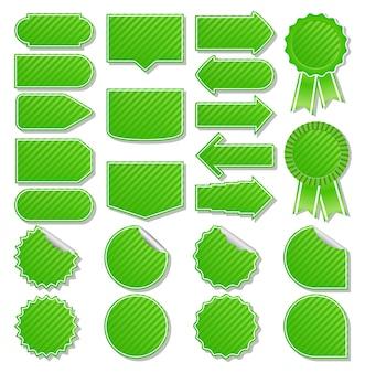 Étiquettes de prix vertes