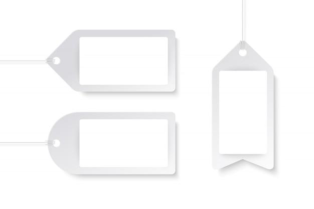Étiquettes de produits dans le style d'art de papier