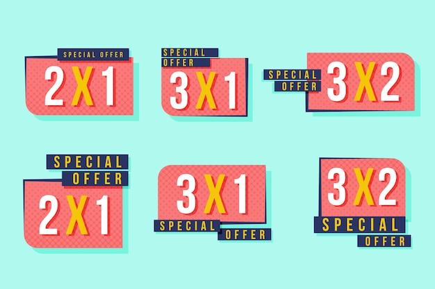 Étiquettes promotionnelles 2x1