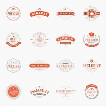 Étiquettes de qualité premium vintage rétro