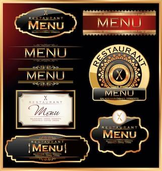 Etiquettes de restaurants et cafés