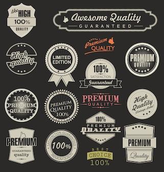 étiquettes rétro de qualité supérieure