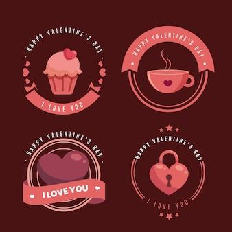 Étiquettes de la saint-valentin