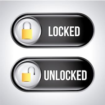 Étiquettes de sécurité sur l'illustration vectorielle fond gris