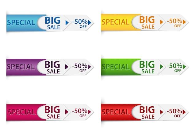 Etiquettes spéciales de prix discount