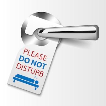 Étiquettes de suspension de porte, ne pas déranger le signe