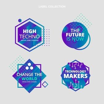 Étiquettes de technologie minimale plate