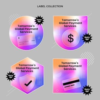 Étiquettes de technologie de texture dégradée