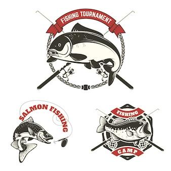 Étiquettes de tournois de pêche