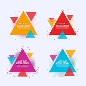 Étiquettes triangulaires abstraites