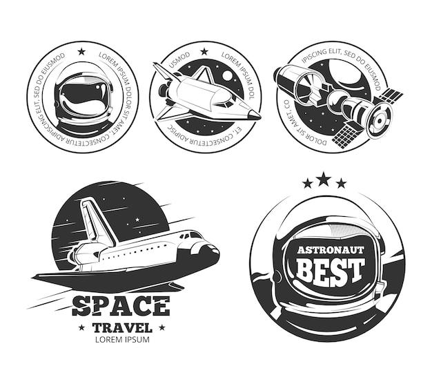 Étiquettes de vecteur d'astronautique