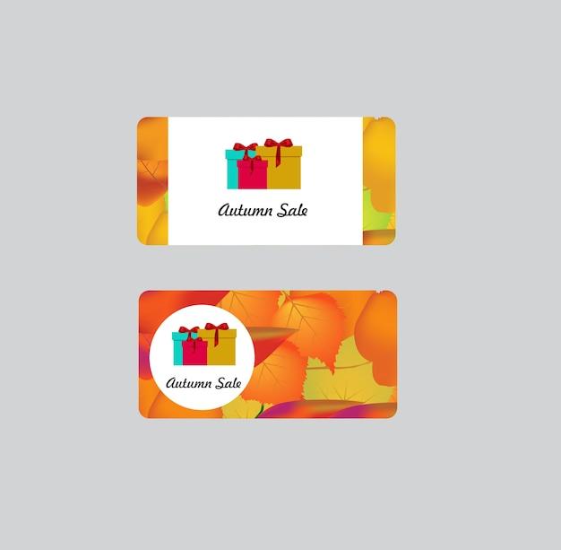 Étiquettes de vente d'automne