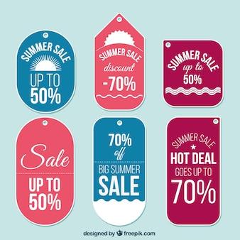 Étiquettes de vente belle d'été