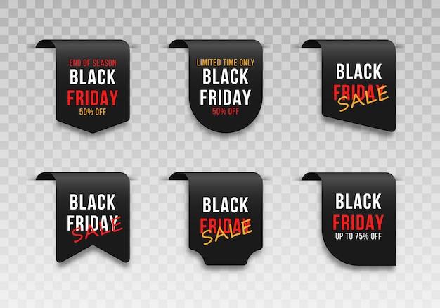 Étiquettes de vente du vendredi noir