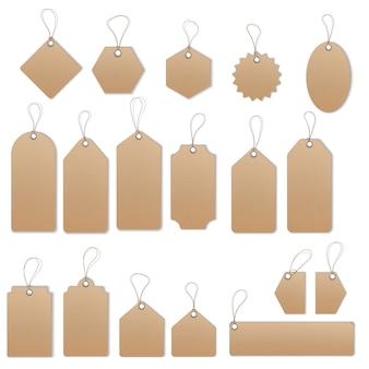 Étiquettes de vente et étiquettes vectorielles ensemble de modèles