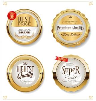 Étiquettes de vente d'or