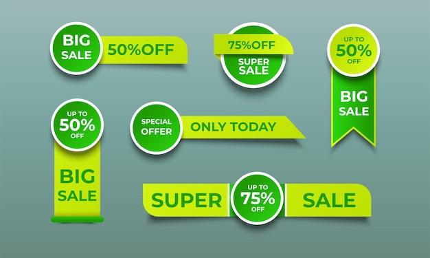 Étiquettes de vente de promotion meilleures offres
