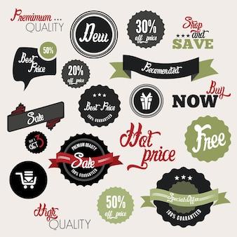 Étiquettes de vente