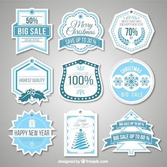 Étiquettes ventes de noël