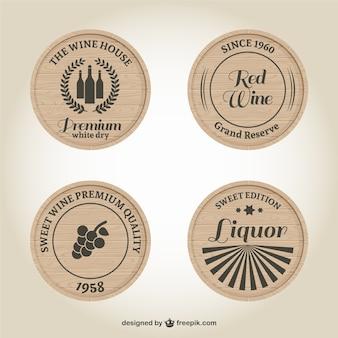 Des étiquettes de vin et de spiritueux