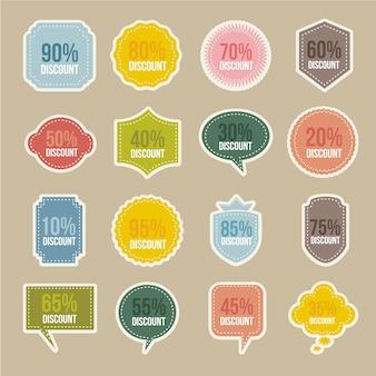 Étiquettes vintage sur illustration vectorielle fond beige