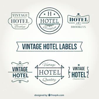 Les étiquettes vintages de l'hôtel dans le style rétro