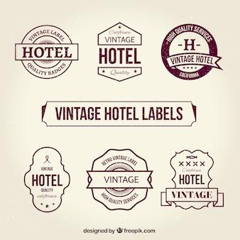 Les étiquettes vintages de l'hôtel