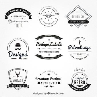 étiquettes vintages de style de hispter