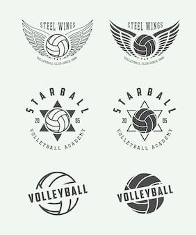 Étiquettes de volleyball, emblèmes