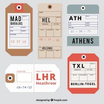 Étiquettes de voyage reaslistic