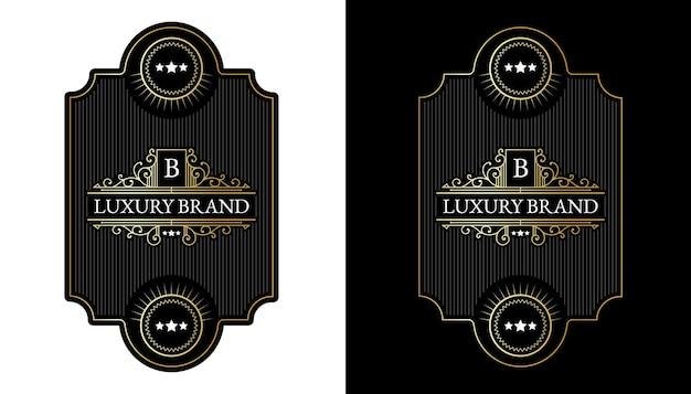 Étiquettes de whisky avec typographie de logo pour l'emballage de bouteilles de boissons alcoolisées de whisky de bière gravure