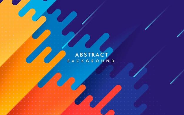 Étirement diagonal de fond coloré géométrique abstrait