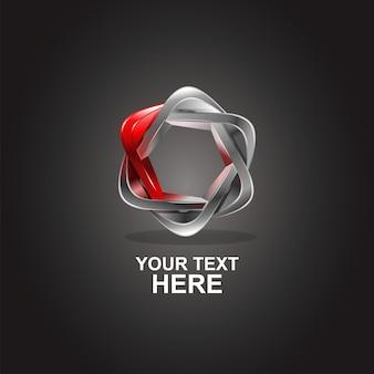 Étoile 3d logo abstrait