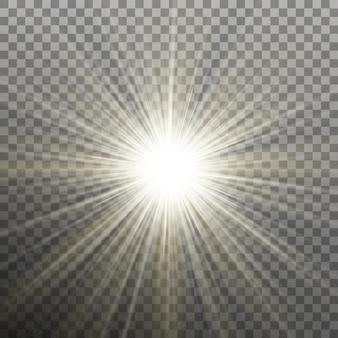Étoile brillante brillante. explosion éclatante. fond transparent uniquement dans