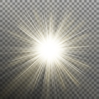 Étoile Brillante Brillante. Explosion éclatante. Fond Transparent Uniquement Dans Vecteur Premium