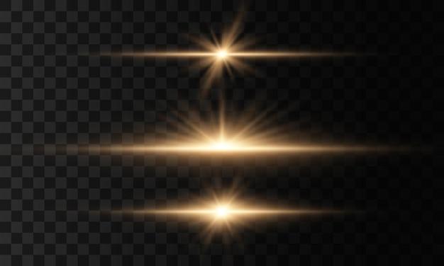 Étoile brillante, scintille soleil brillant transparent