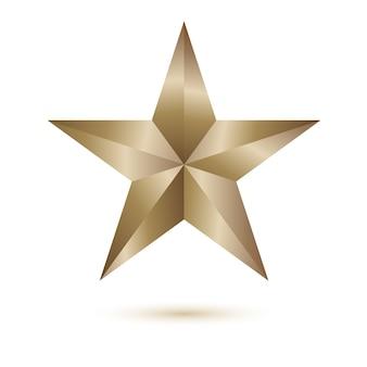 Étoile brillante de vector illustration sur fond blanc