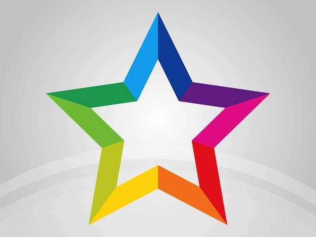 Étoile avec le contour arc
