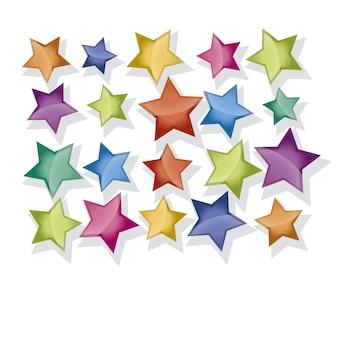 Étoile de couleur pour la décoration