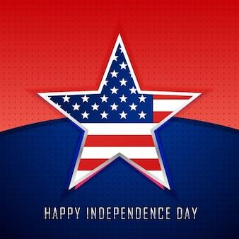 Étoile avec drapeau américain fond
